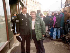 bill on the set of rab c nesbit with gregory fisher